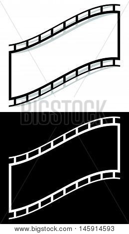 Film Strip Shape Elements With Distortion For Photography / Generic Image Concepts
