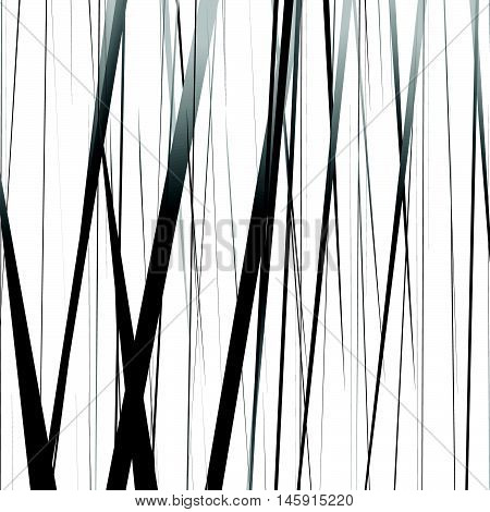 Geometric Monochrome Illustration With Random Vertical Lines, Streaks