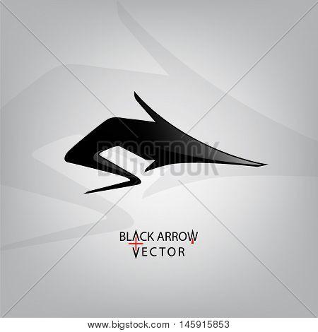 Icon arrow black vector illustration. Arrow symbol
