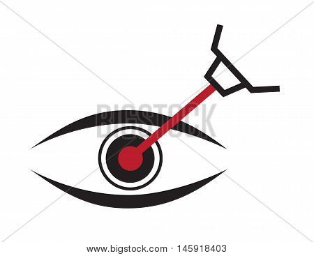 eye lasik icon , logo and vector