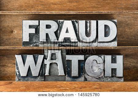 Fraud Watch Tray