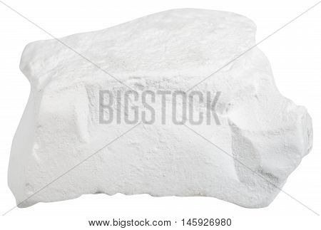 Natural Chalk Mineral Isolated On White