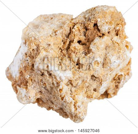 Travertine (tufa Limestone) Stone Isolated