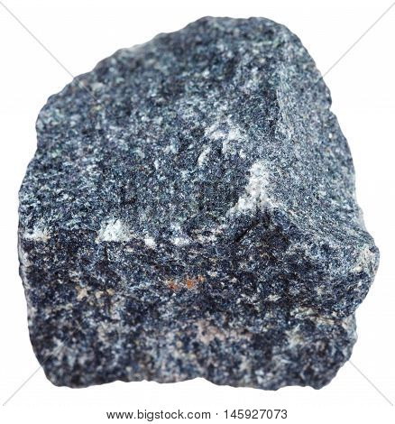 Gabbro Mineral Isolated On White Background