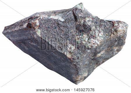 Porphyry Basalt (basalt Porphyrite) Stone Isolated