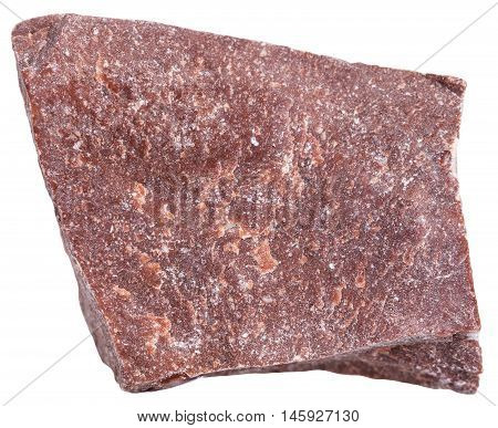 Red Marble Stone Isolated On White