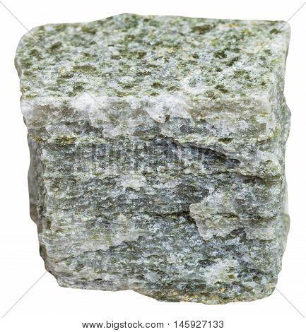 Quartz Mica Schist Mineral Isolated On White