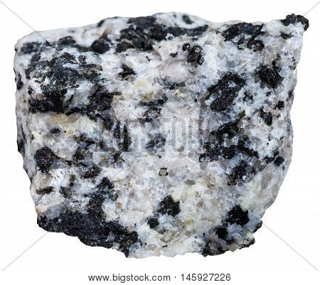 Natural White And Black Granite Mineral Isolated