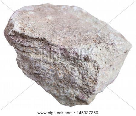 Marl (marlstone) Stone Isolated On White