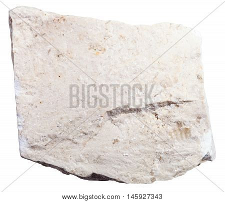 Chemogenic Limestone Mineral Isolated On White