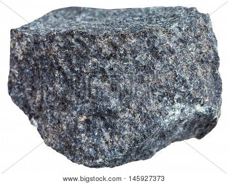 Gabbro Basalt Mineral Isolated On White