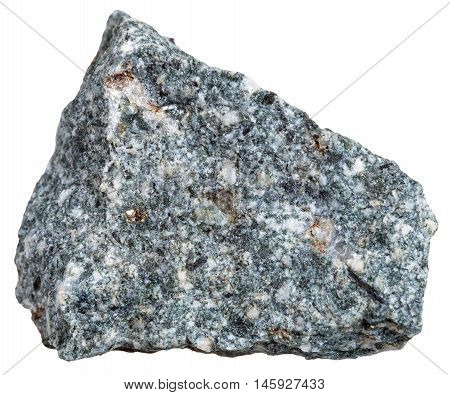Natural Diorite Mineral Isolated On White