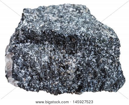 Natural Amphibolite Mineral Isolated On White