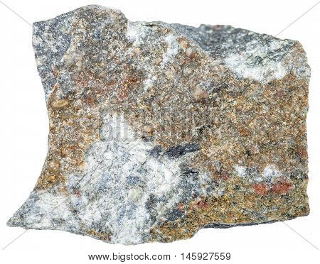 Andesite Mineral Isolated On White
