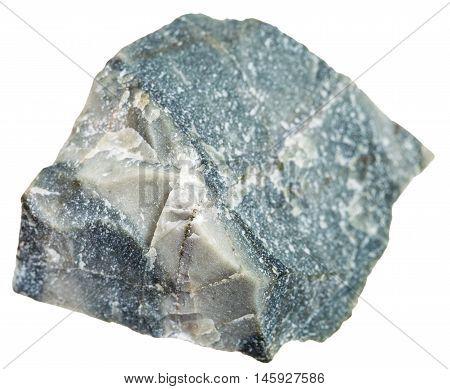 Hornfels Stone Isolated On White