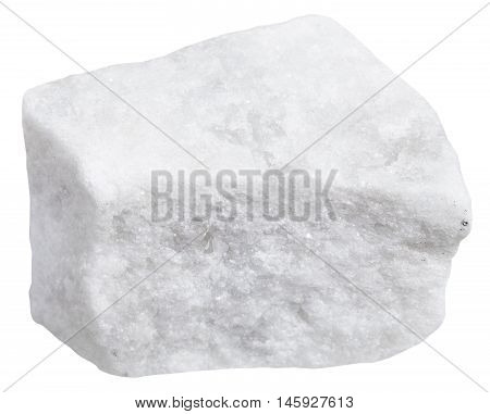 Piece Of White Marble Isolated
