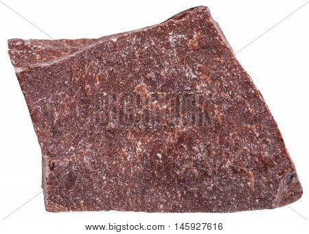 Red Marble Mineral Isolated On White