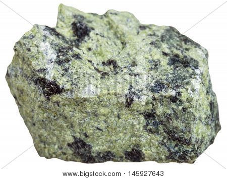 Serpentinite Mineral Isolated On White Background