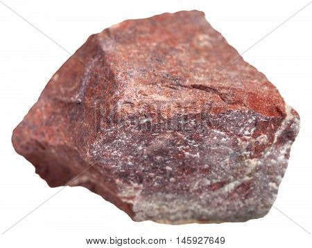 Red Jasper Stone Isolated On White