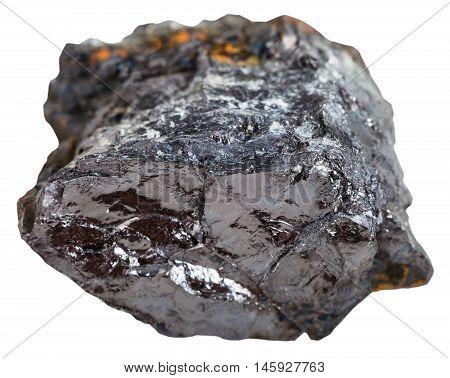Black Coal (bituminous Coal) Stone Isolated