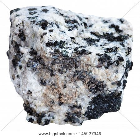 White And Black Granite Mineral Isolated