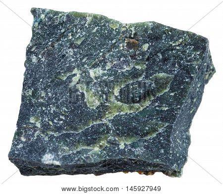 Dunite (olivinite) Mineral Isolated On White