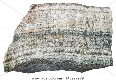 Skarn (tactite) Mineral Isolated On White