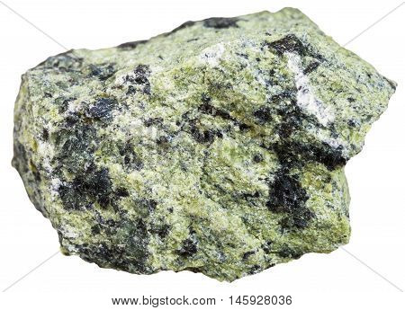 Serpentinite Stone Isolated On White Backgroun
