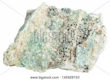Listvenite (listwanite) Stone Isolated