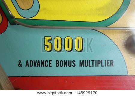 Retro Pinball Machine Arcade Game with Flippers