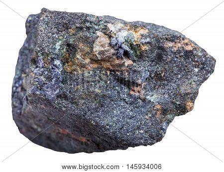 Molybdenite Ore Isolated On White