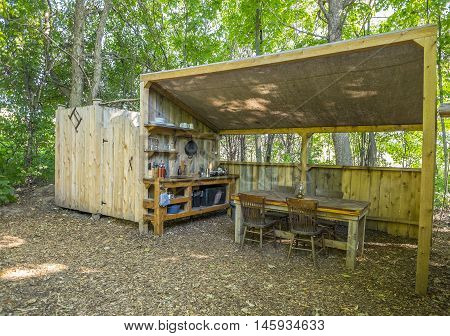 Kitchen and Bathroom Facilities in a Luxury Camping Site