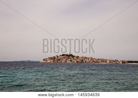 Wonderful view on Primosten island with sea view