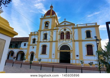 A beautiful colonial church in Mompox Colombia