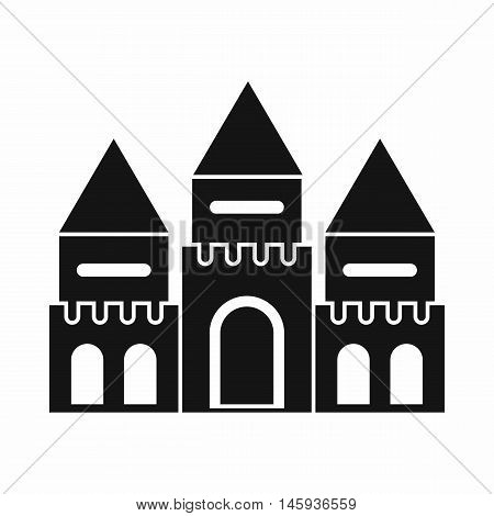 Children house castle icon in simple style isolated on white background vector illustration