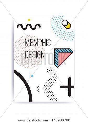 Colorful Trend Neo Memphis Geometric Pattern