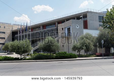 Thessaloniki, Greece - September 04 2016: Thessaloniki City Hall buildings. It consists of two main buildings, constructed at 2009.