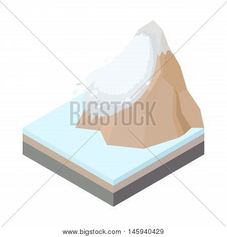Avalanche icon in cartoon style on a white background vector illustration
