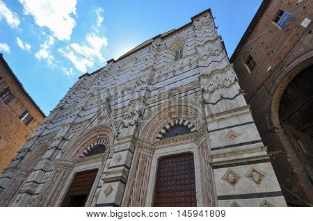 Cathedral Church Baptistry In Siena