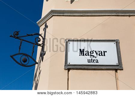 Sign Of Hungary Street