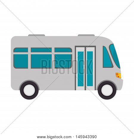 microbus transport vehicle bus van wagon vector illustration