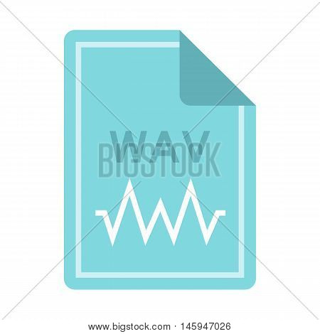 File WAV icon in flat style isolated on white background. Document type symbol vector illustration
