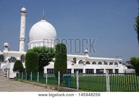 Mosque in Srinagar in Kashmir, in India