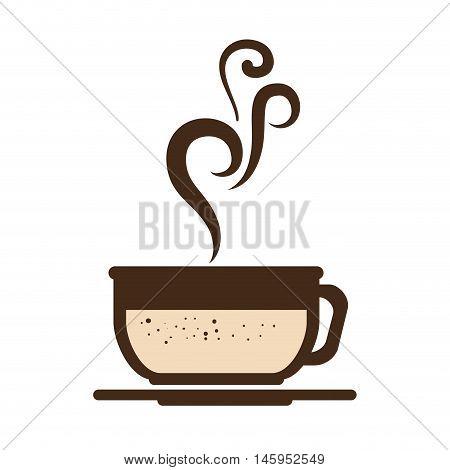 coffee mug cup hot drinking caffeine beverage vector illustration