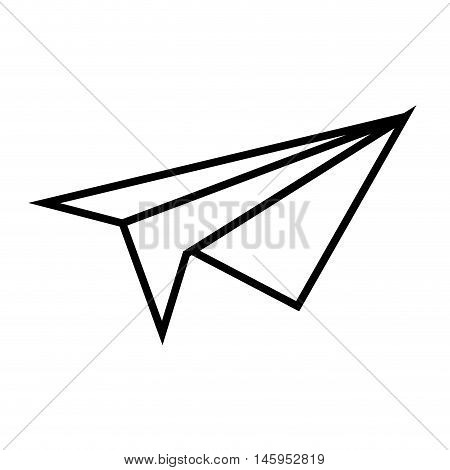 paperplane airplane plane paper toy silhouette vector illustration