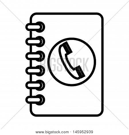 agend phone directory book telephone mobile vector illustration