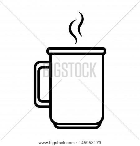 coffee mug cup drinking caffeine beverage vector illustration