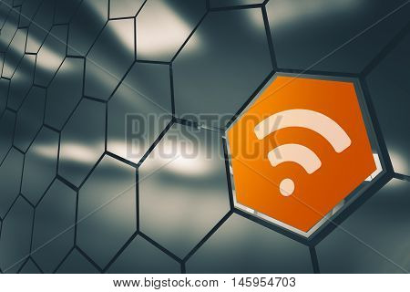 WiFi Network Availability Concept 3D Render Illustration. Wireless LAN Network Icon. Full Range.