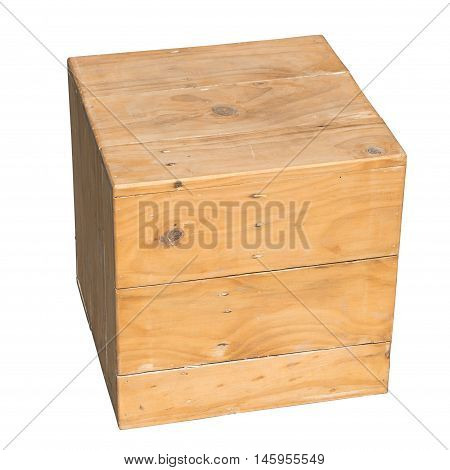 Wooden Box Isolated Dicut With Clipping Path