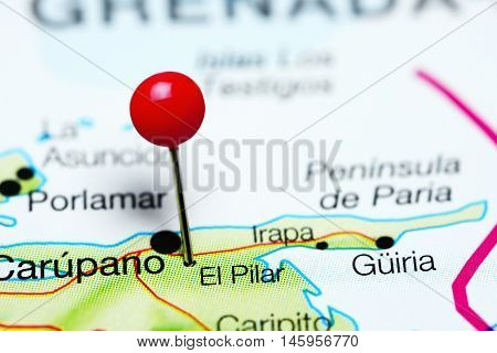 El Pilar pinned on a map of Venezuela